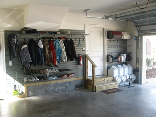 Create your own mudroom in your garage for Design my own garage